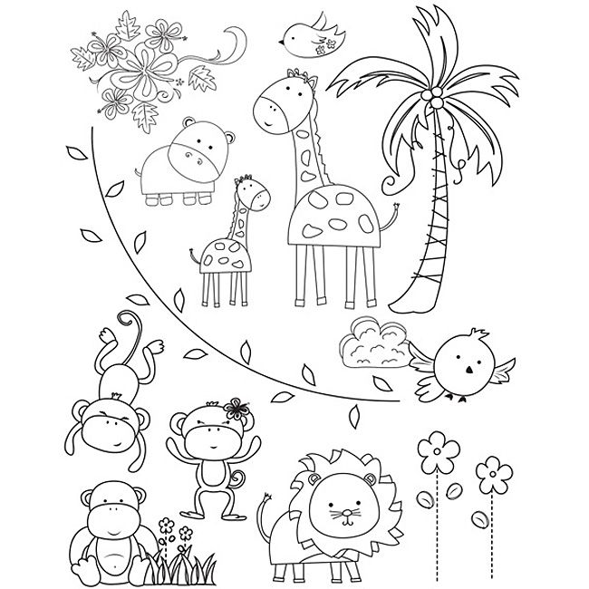 Baby Animals Drawing For Children Zoo Coloring Pages Zoo Animal
