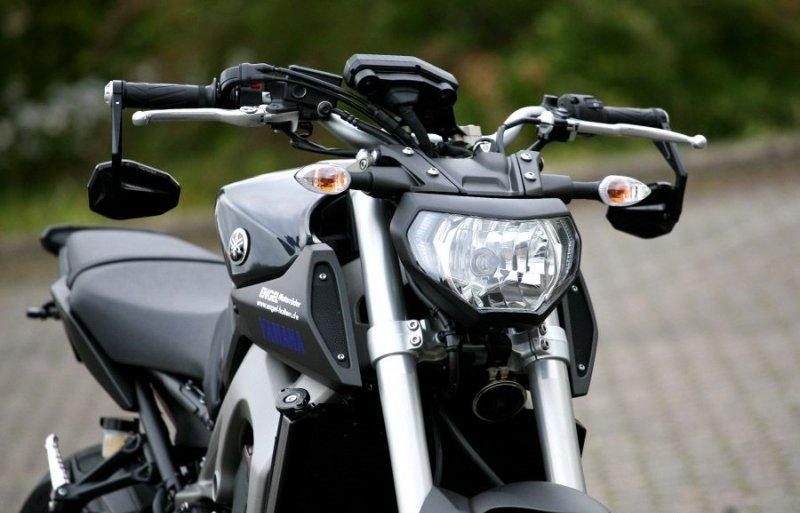 Pics Of Fz With Bar End Mirrors Yamaha Fz 09 Forum Mt