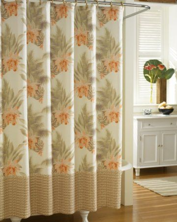 Tommy Bahama Home Wicker Fl Shower Curtain