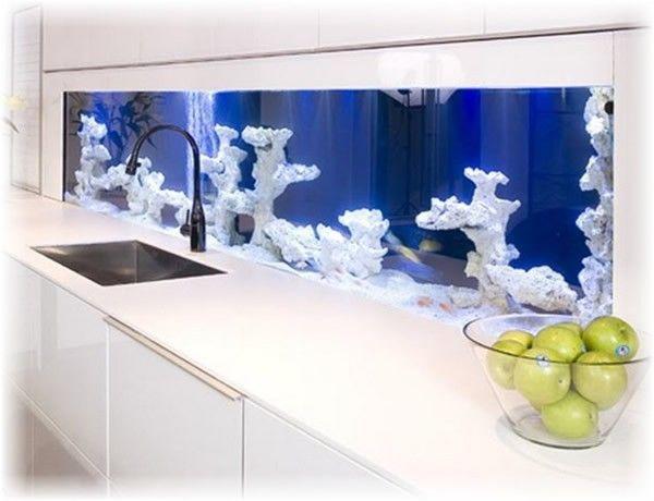 50 Wall Aquarium Design Pictures Wall Aquarium Modern Kitchen Aquarium Design