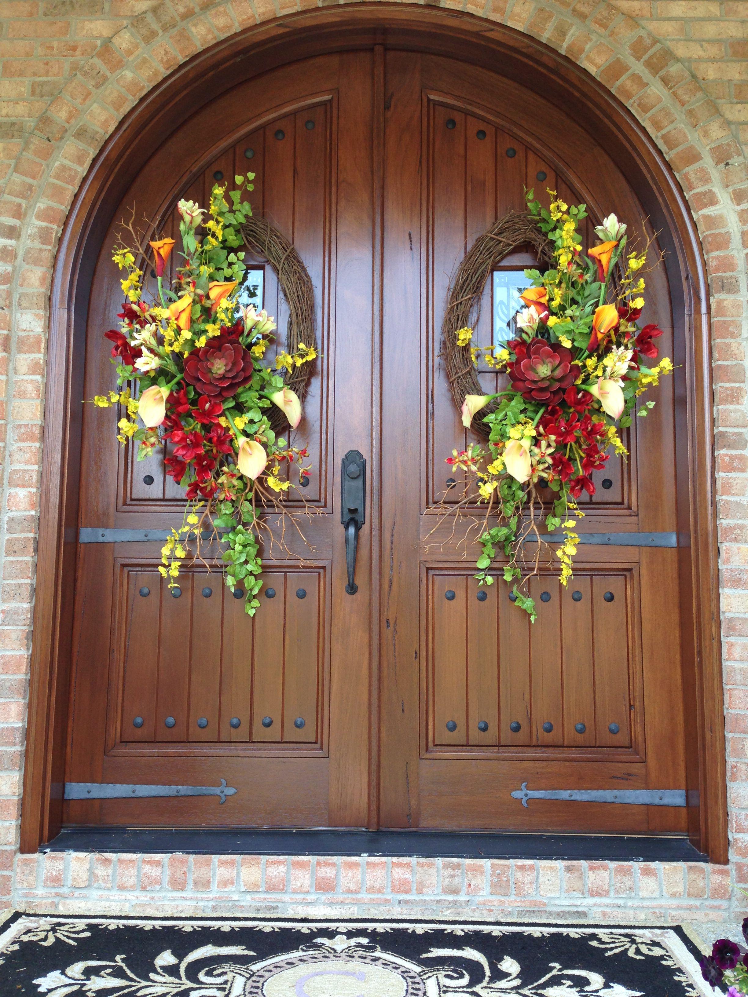 22+ Double door wreaths fall trends