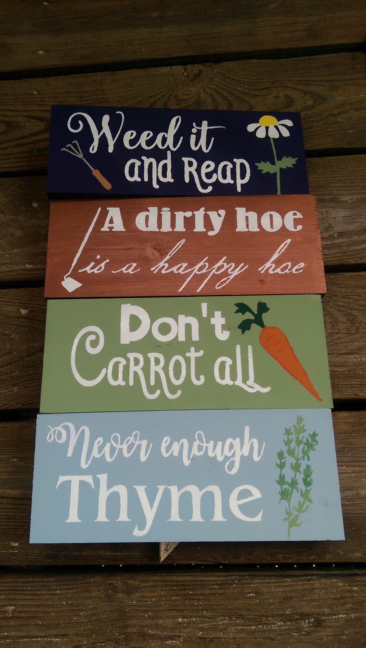 Fun With Garden Puns Https Www Etsy Com Shop Greenchickens Ref Seller Platform Mcnav Search Query Garden Pun With Images Garden Puns Fun Novelty Sign