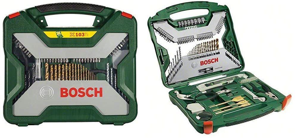 Chollo Maletin X Line Titanio De Bosch Con 103 Accesorios Para