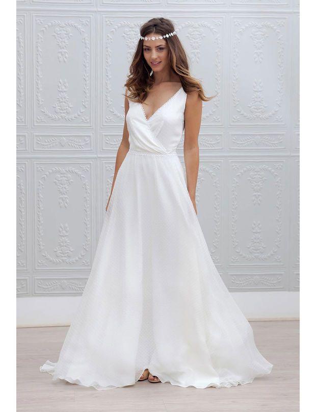 Les Plus Belles Robes De Mariees Collection 2015 Marie Laporte Robe De Mariee Robe De Mariee Fluide