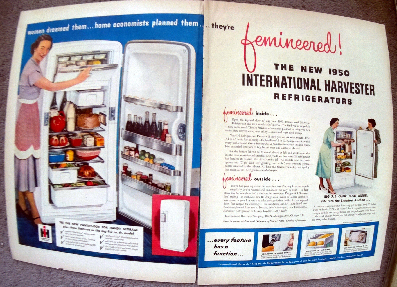 1947 International Harvester Refrigerator Original 2 Page Etsy