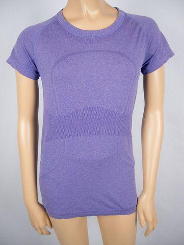 LULULEMON Run Swiftly Shirt 8 M Purple Breathable Mesh Short Sleeve X Static Top