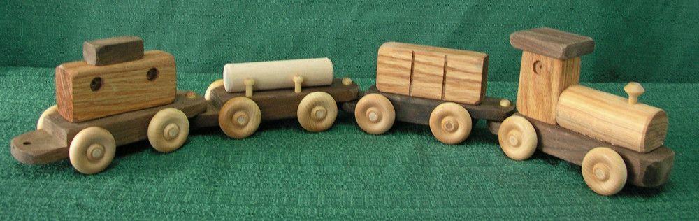 Wooden Train, Four Piece Wooden train, Handmade wooden