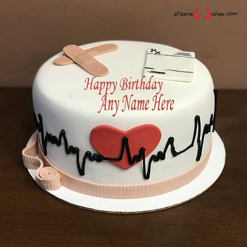Surprising Medical Birthday Name Wish Cake With Images Birthday Cake Funny Birthday Cards Online Sheoxdamsfinfo