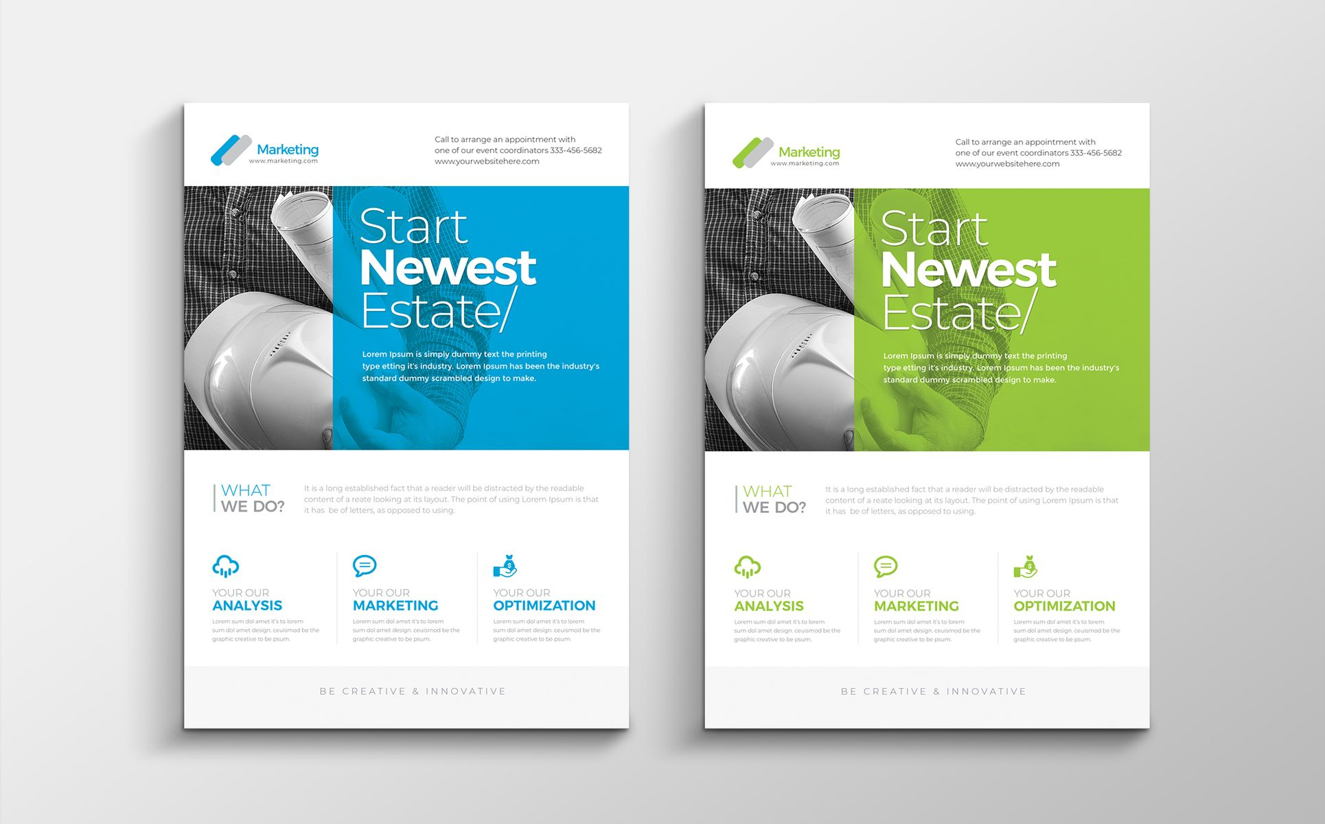 corporate clean flyer corporate identity template teams