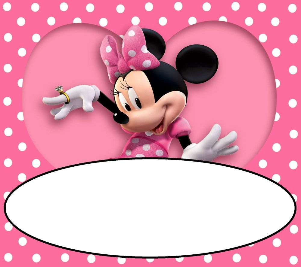 minnie mouse free printable invitation
