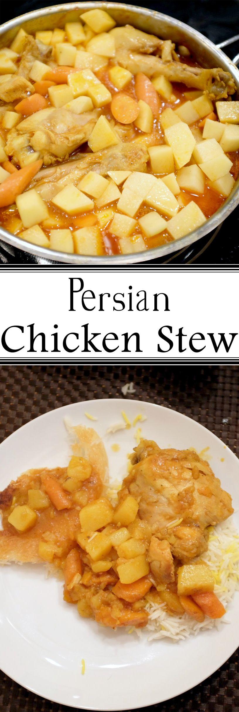 Easy pot of delicious persian chicken stew healthy