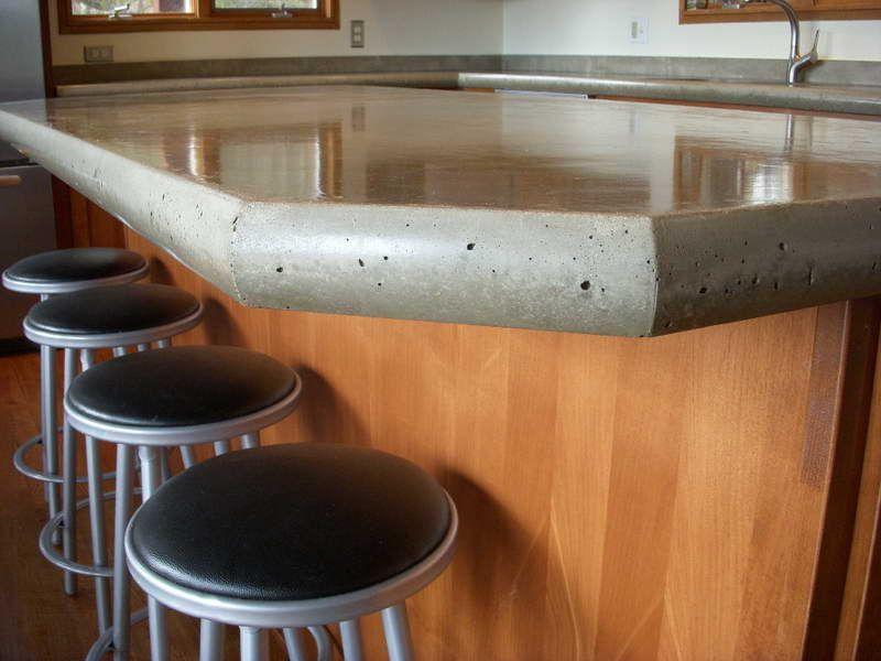 Exceptional Kitchen : Concrete Countertops Poured With Chair Design Decorative Poured  Concrete Countertops Kitchen Picturesu201a Kitchen Countertop Materialsu201a  Kitchen Table ...