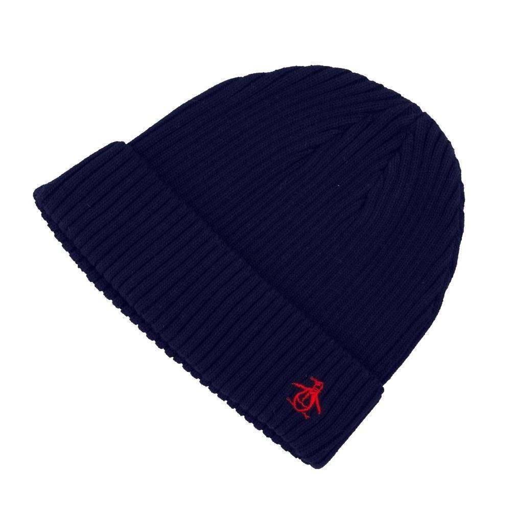 da747e1864a4b0 Original Penguin Mens Blue Depths Turn Up Cuff Rib Beanie Hat One Size