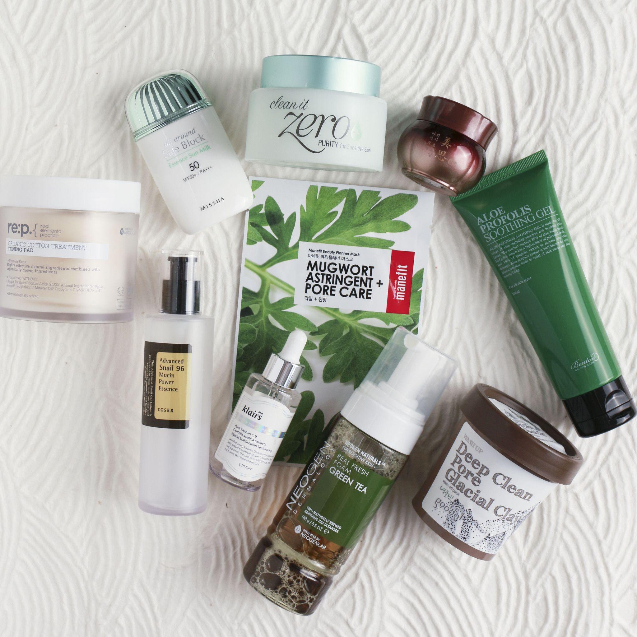 10-Step Korean Skin Care Routine Set (Oily Skin Type ...