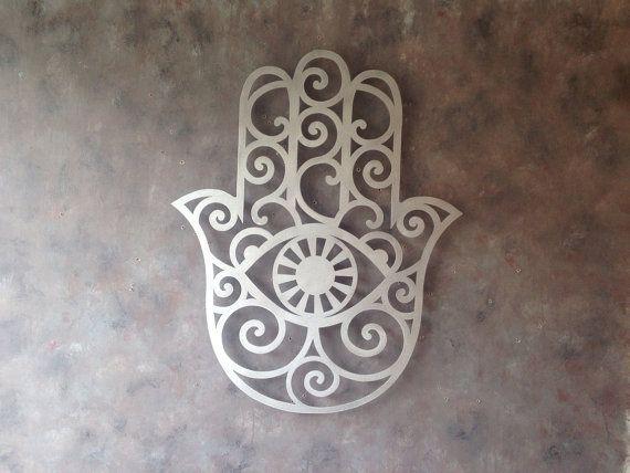 Hamsa Wall Art brushed lotus flower metal wall art - lotus metal art - home decor