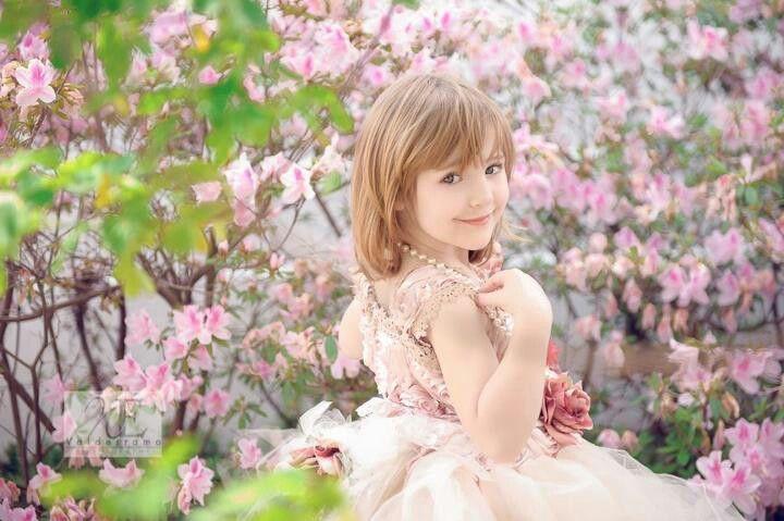 Spring child portrait