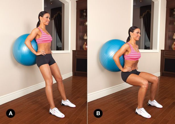 #build #squat #your #butt #ball #wall #the #onBuild Your Butt on the Ball: Wall Squat