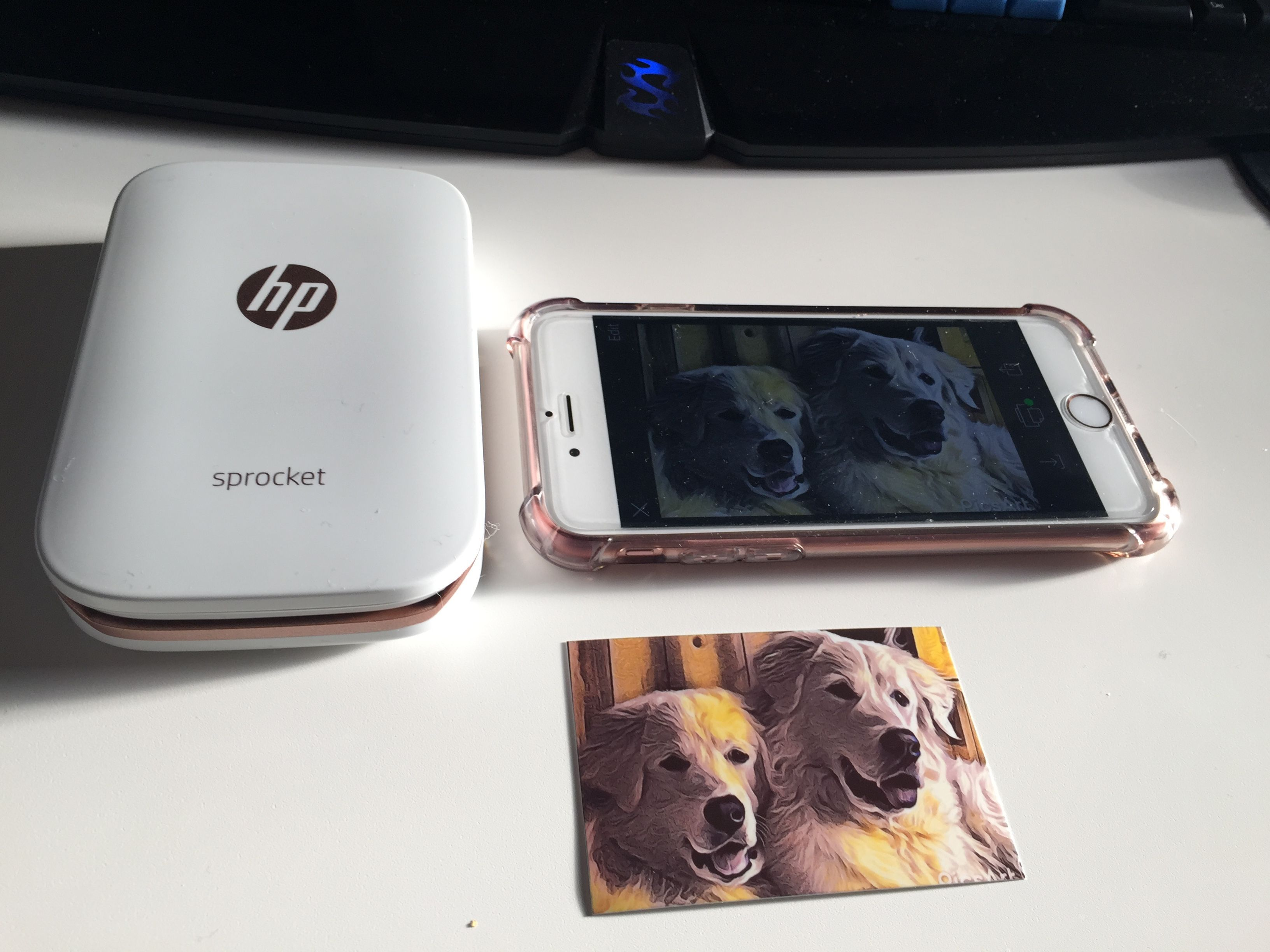 Love my HP Sprocket mini photo printer! Great for printing