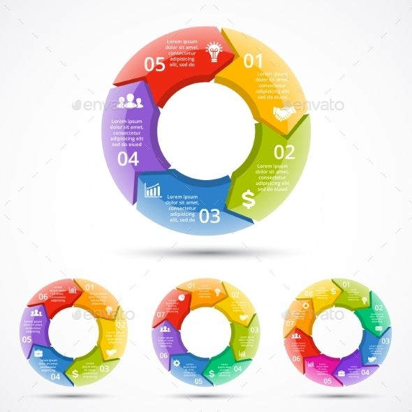 Circle Arrows Graph Infographic Cycle 3D Diagram Infographic - circle template