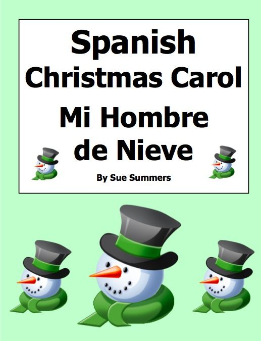 spanish christmas carol mi hombre de nieve sue summers villancicos