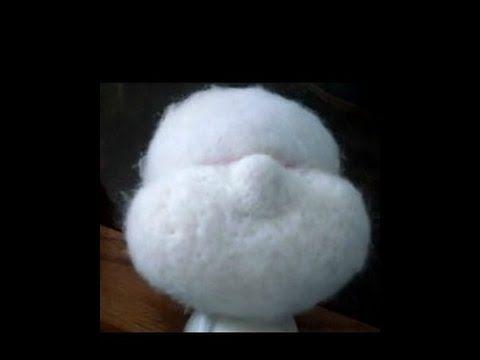 2e4df2da493 How to needle felt   sculpt a Cloth doll face in wool - YouTube ...