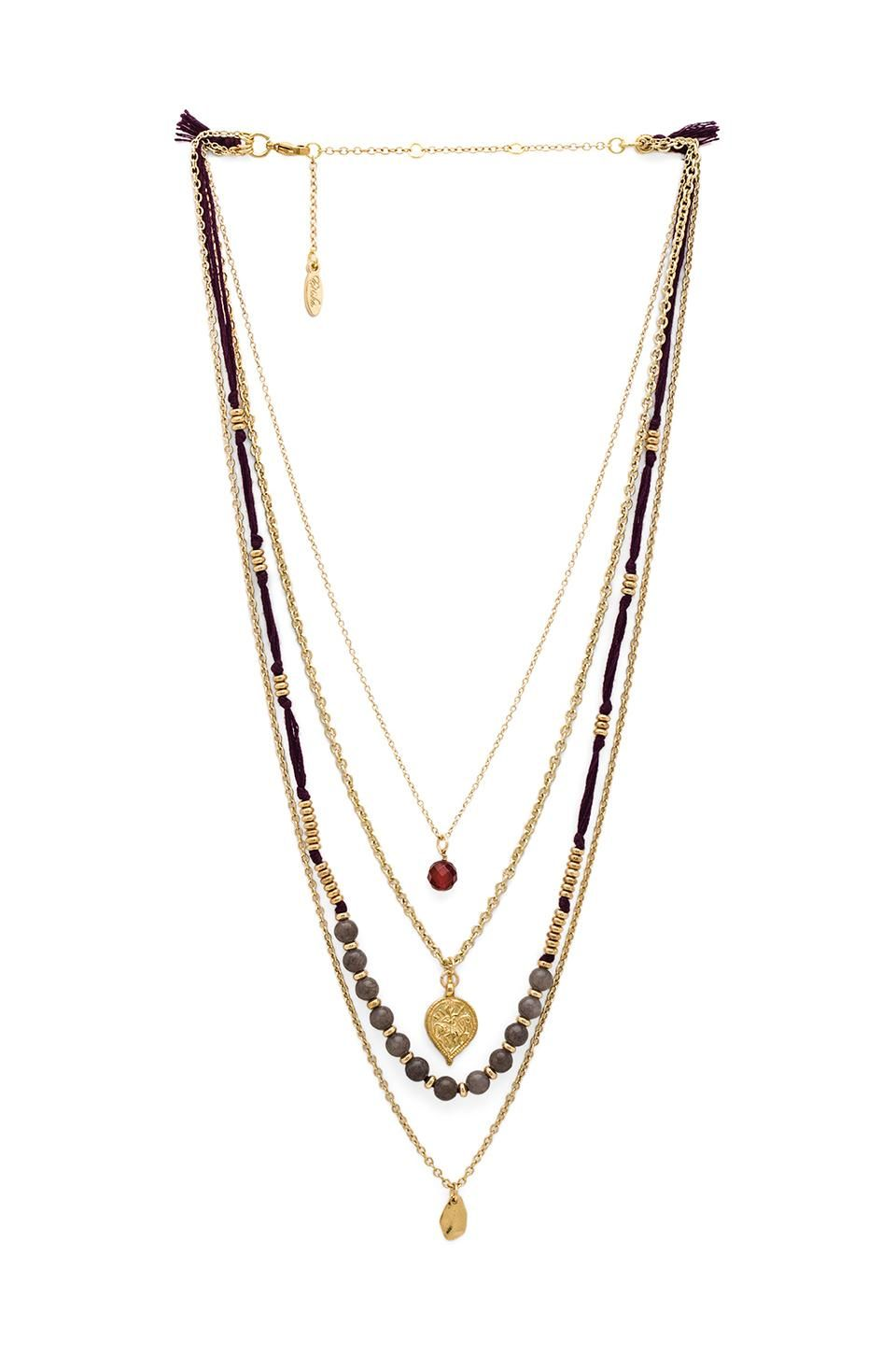 Ettika Tassel Layered Necklace in Metallic Gold UQR0Q