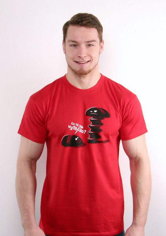 b357d4e22f87 Vytočenej červené pánské tričko