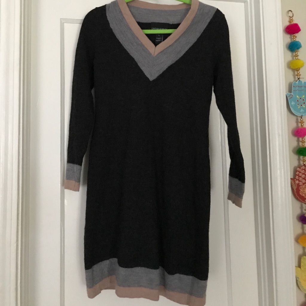 963c35d43cc Cynthia Rowley Merino Wool Sweater Dress