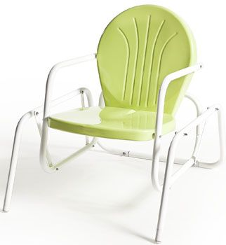 Buy Retro Metal Lawn Furniture Here   Bellaire Single Glider   For The  Patio,yard