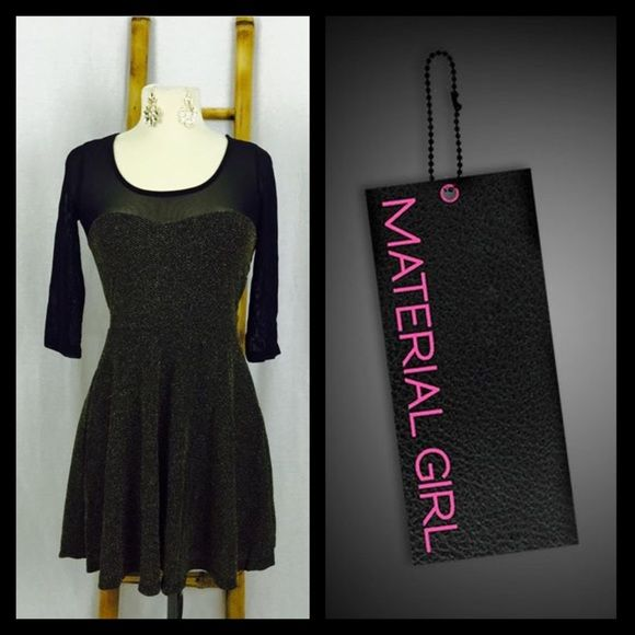 368b4b21cf4 Material Girl Party Dress Material girl party dress. Size medium. Bodice  85% nylon