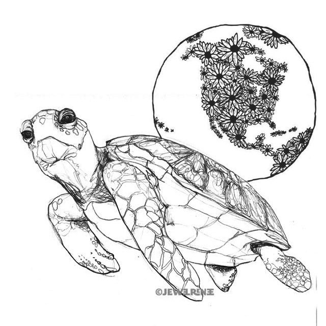 The universe on the back of the turtle. Idea keyed from