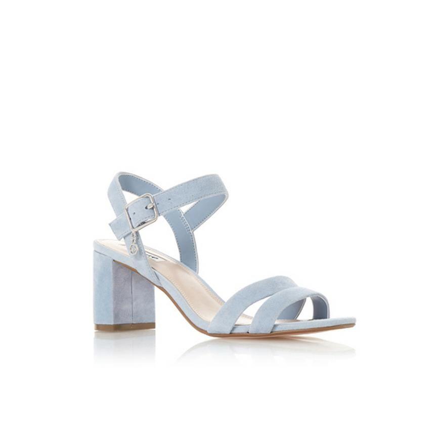 MEGGAN - Block Heel Sandal - blue