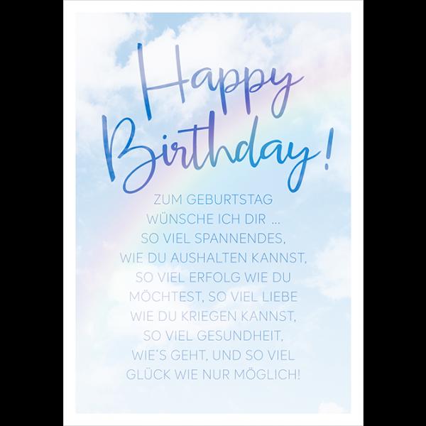 Zum Geburtstag wünsche ich dir…