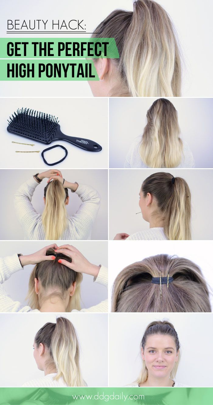 How to get the perfect high ponytail Beauty hack High
