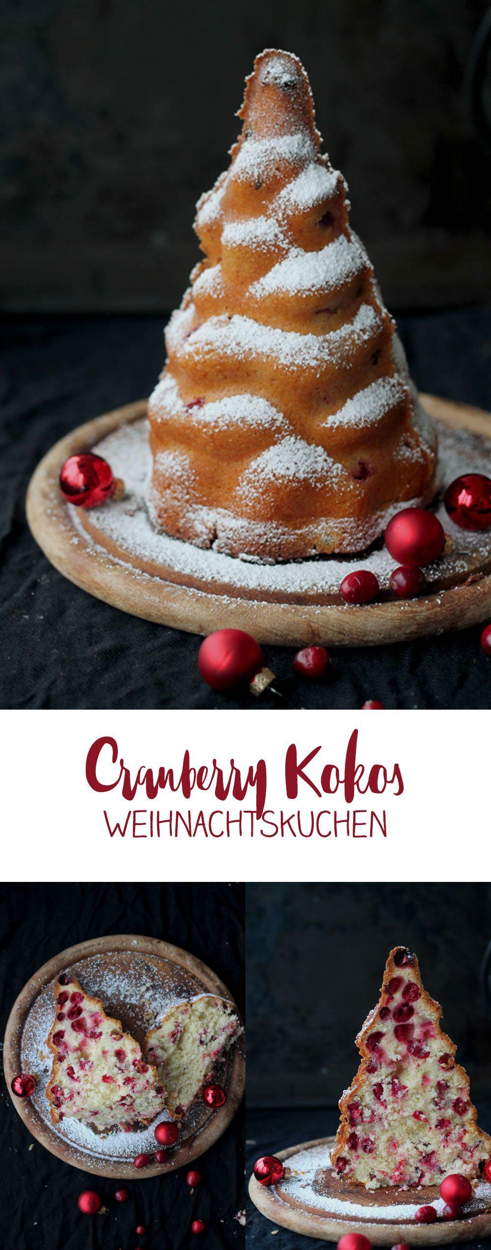 cranberry kokos kuchen in weihnachtsbaumform kuchen zu weihnachten rezeptideen deutsche. Black Bedroom Furniture Sets. Home Design Ideas