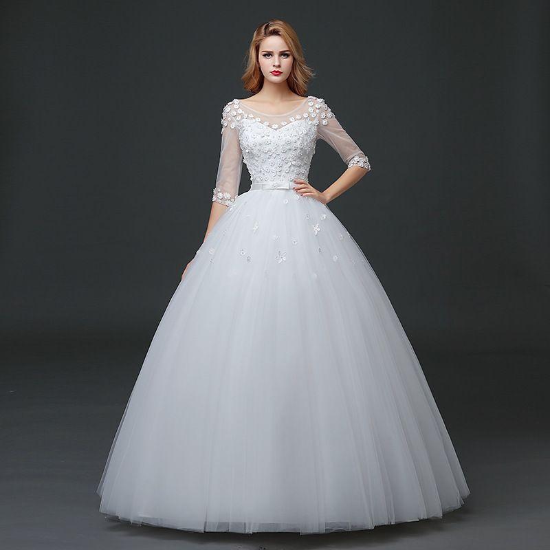 2016 new word collar in the short sleeve wedding dress, wedding ...