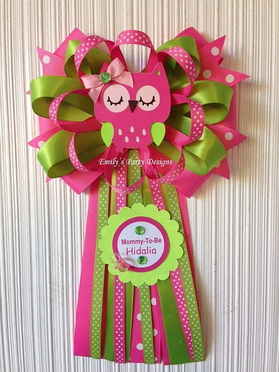 owl mommytobe baby shower corsage by on etsy