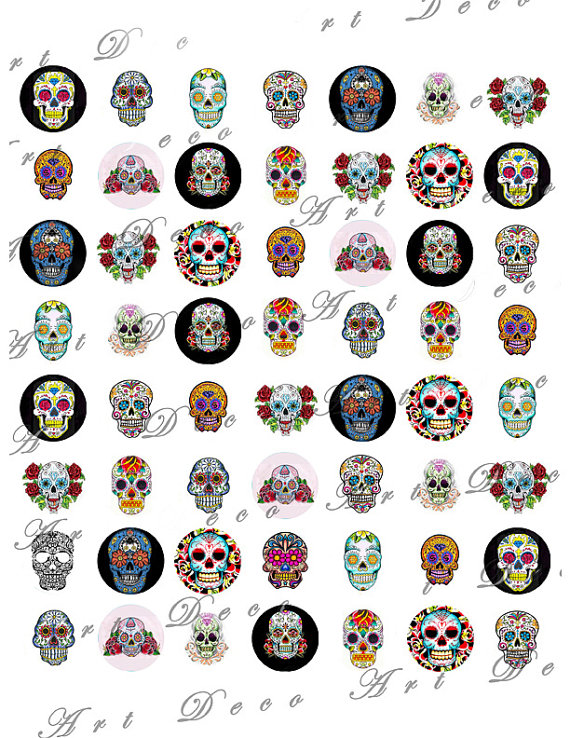 tag der toten dia de los muertos sugar skull tattoos in von artdeco pinteres. Black Bedroom Furniture Sets. Home Design Ideas
