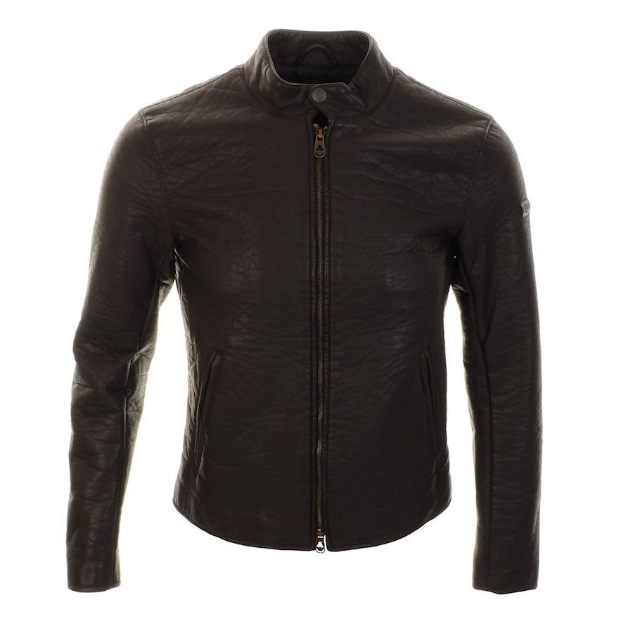 Armani Jeans Jackets > Armani Jeans Faux Leather Bomber Jacket Brown >  Emporio Armani Jackets Armani
