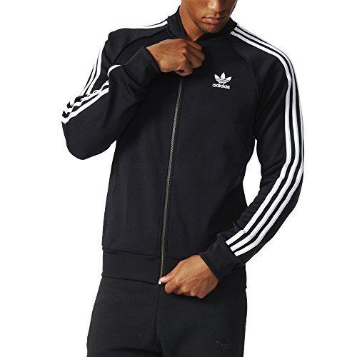 adidas originali uomini superstar track top nero, m adidas https
