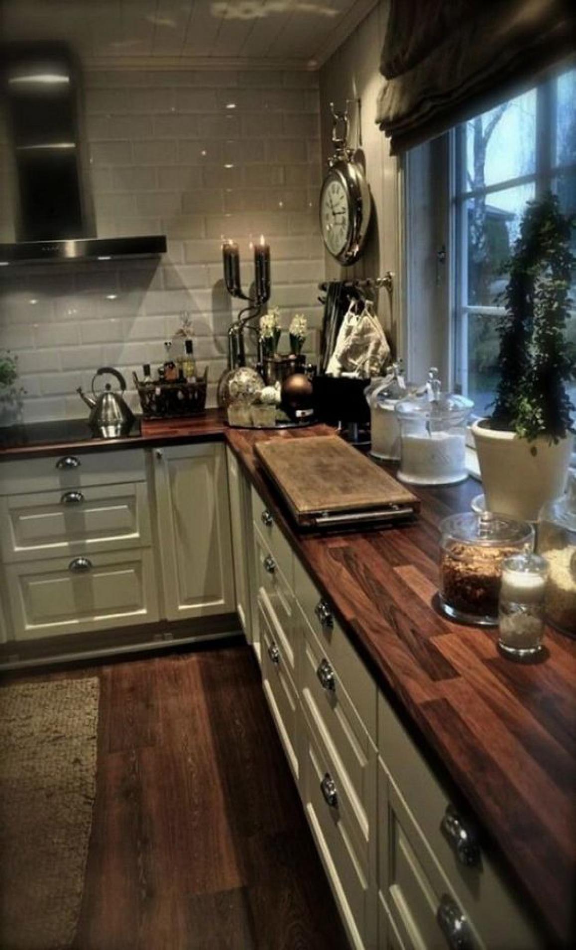 45 elegant gray farmhouse kitchen makeover ideas