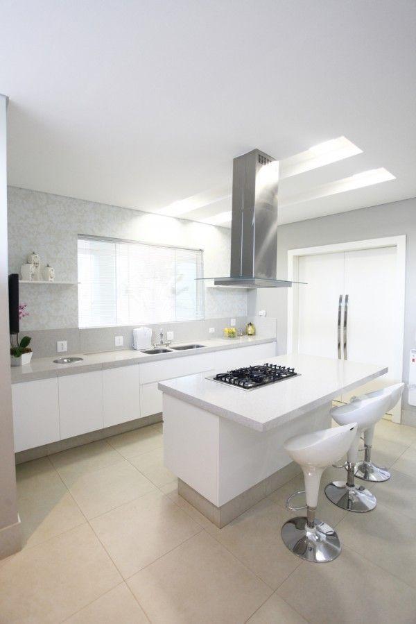 COZINHA GOURMET COM ILHA  ILUMINAÇÃO COZINHAS  lighting kitchens  cocinas  # Iluminacao De Cozinha Com Ilha