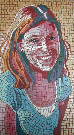 Kate by Ilona Brustad            #mosaic #portrait