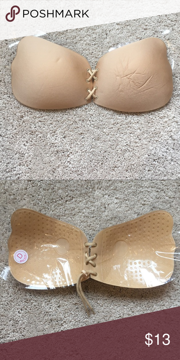 7f97ba7df6 Lace up stick on instagram bra in nude for D cup This is the bra that was being  advertised all around the internet recently. It is brand new never worn!