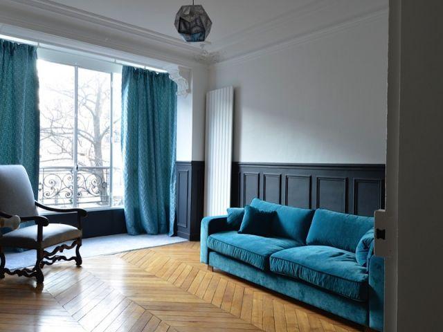 avant apr s el gance au masculin pour un haussmannien decor pinterest appartement. Black Bedroom Furniture Sets. Home Design Ideas