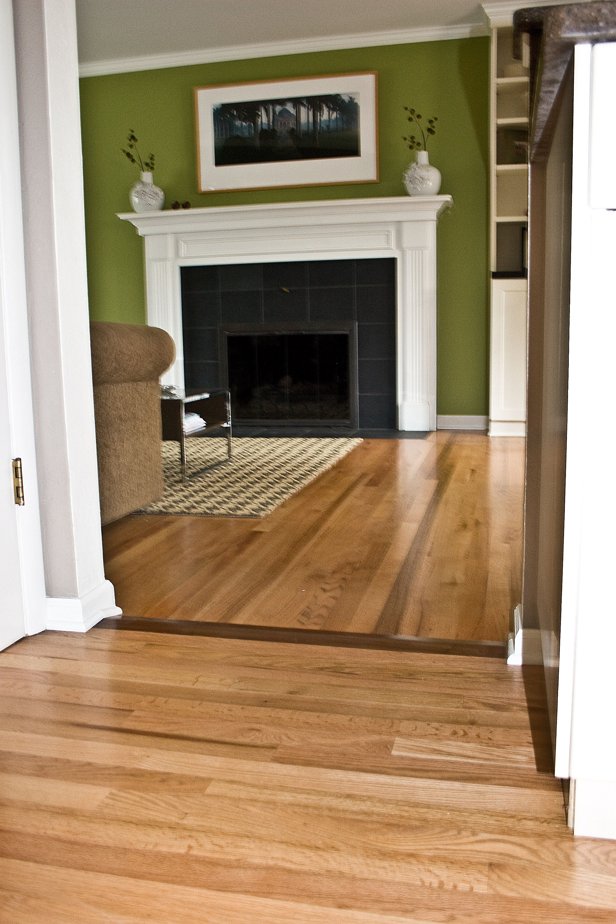 Good idea for adding hard to match hardwoods Living room