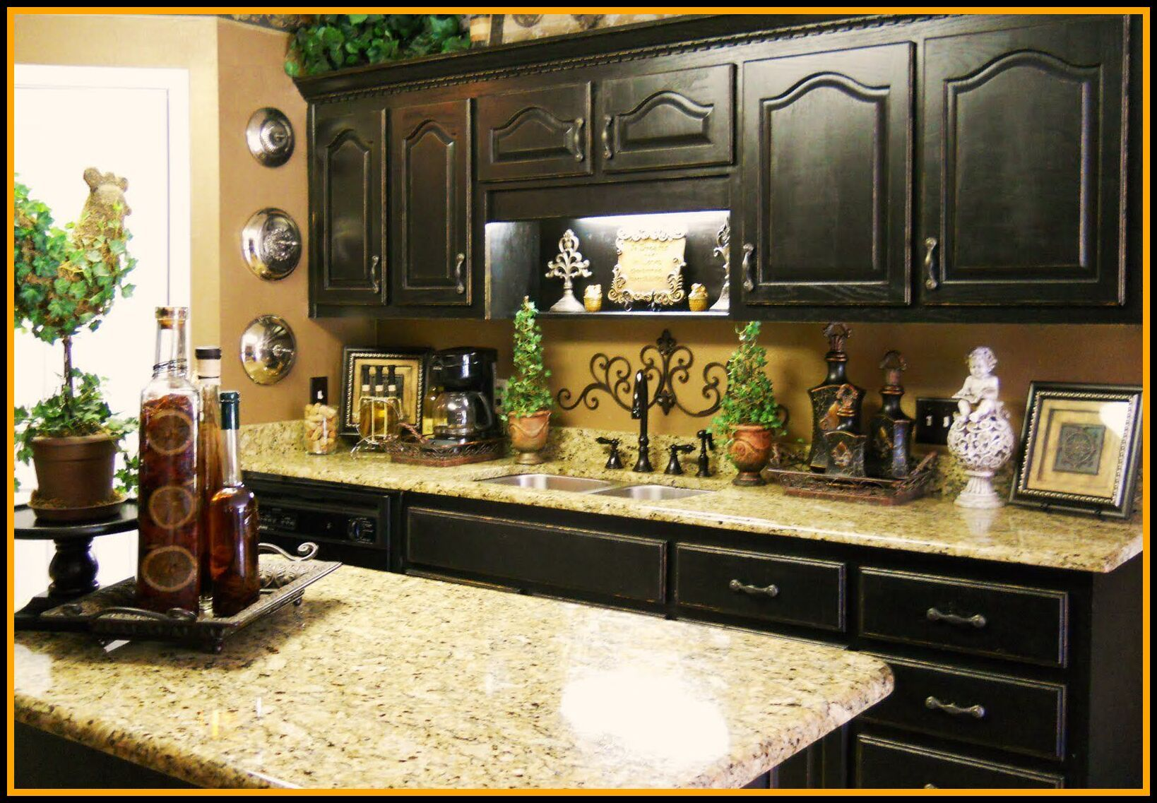 130 Reference Of Kitchen Counter Decor Pretty In 2020 Wine Decor Kitchen Wine Theme Kitchen Tuscan Kitchen