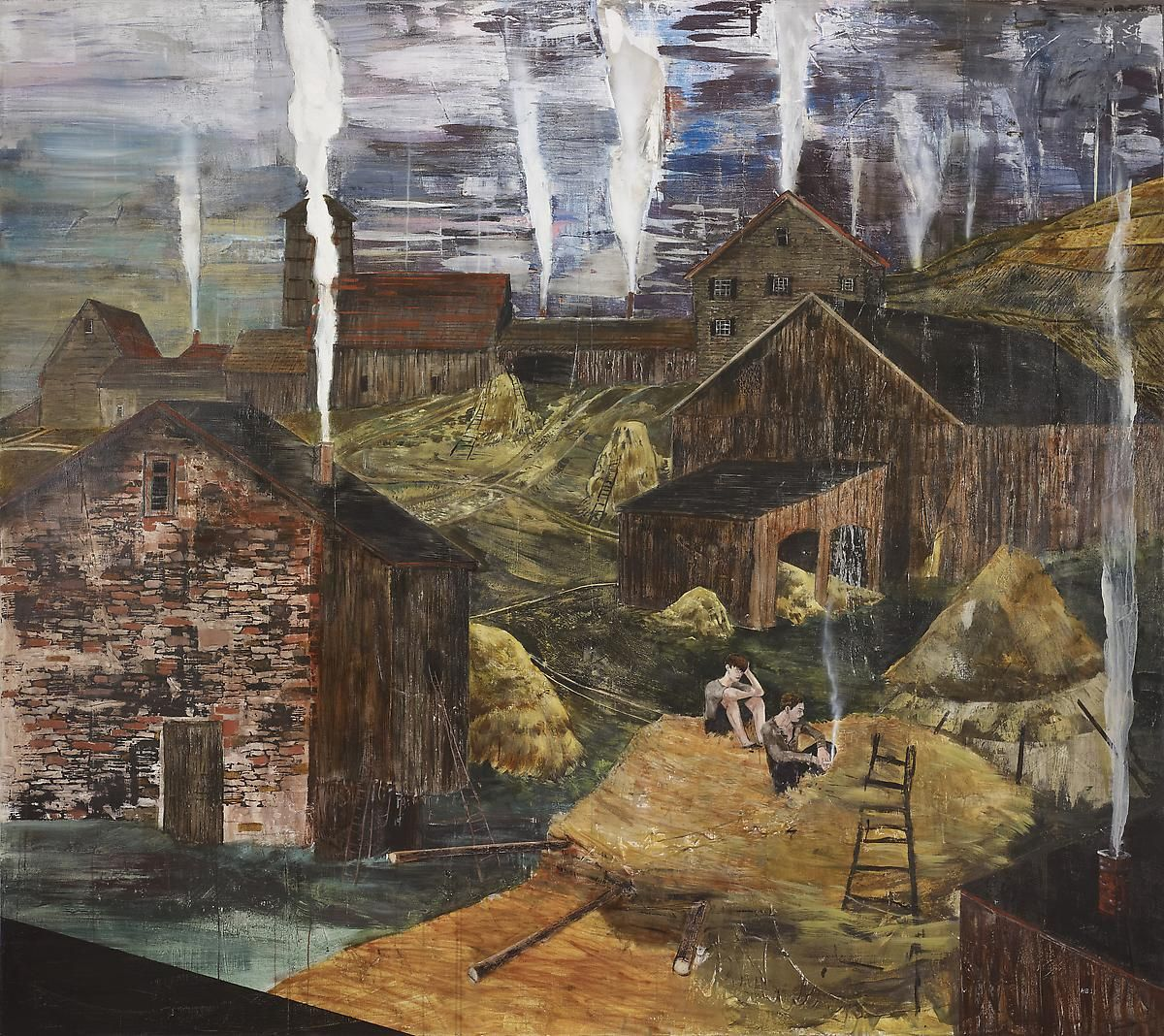 Hernan Bas - The Impending Flame (or, The Great Barn Fire of '83) 2011