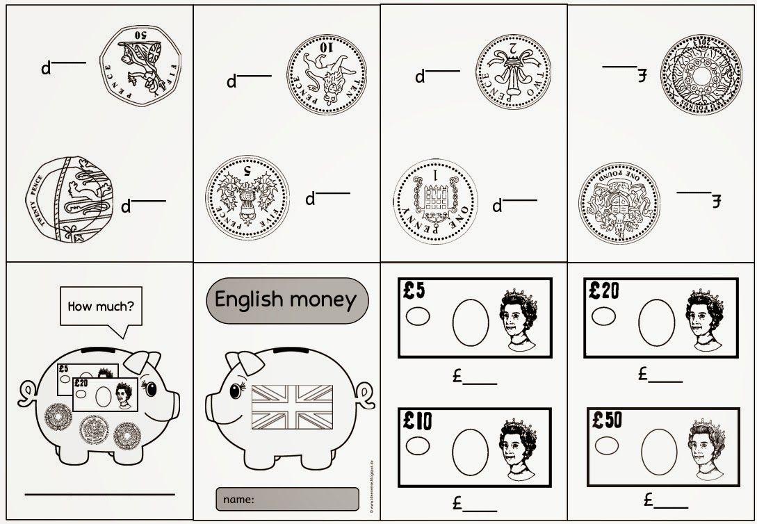 rund ums englische geld mit bildern  englisch