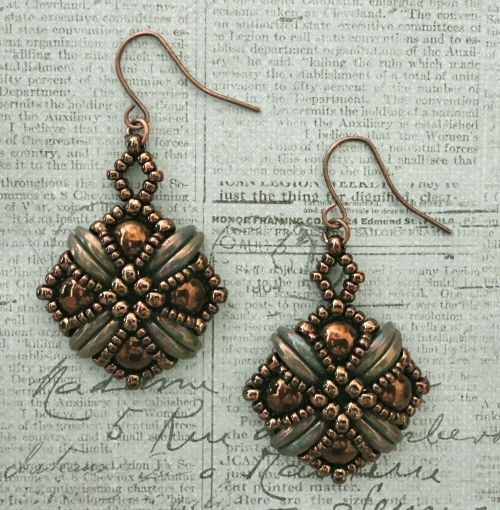 Linda's Crafty Inspirations: Tara Earrings - Chocolate Bronze